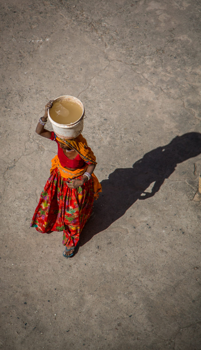 Frau in Sari