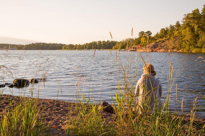 Entspannung in Ruhe in der Natur
