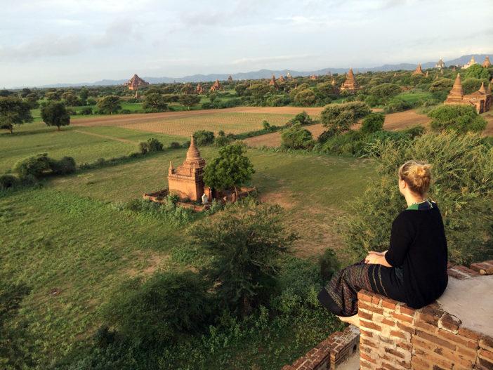 Bagan Myanmar mit Baby