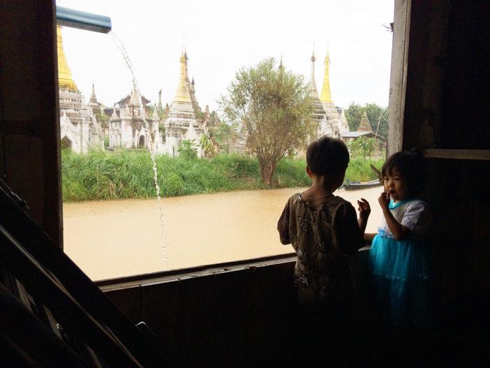 Myanmar mit Kindern