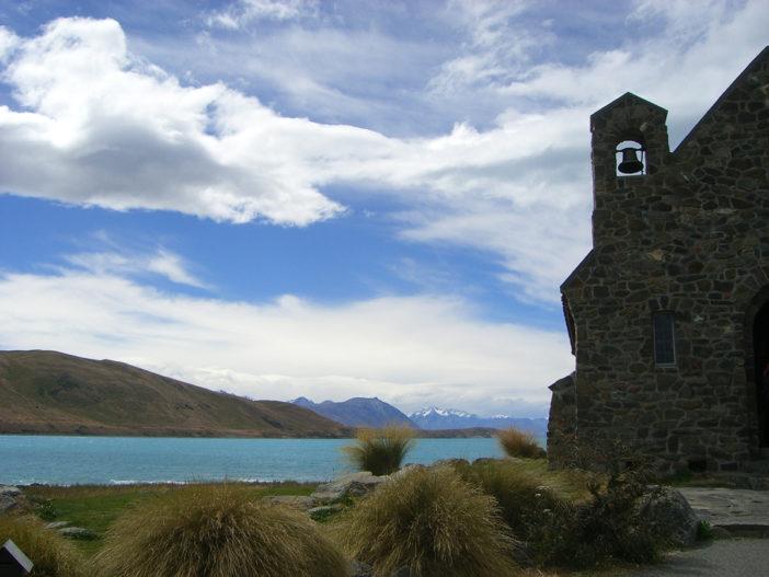 Neuseeland Lake Tekapo mit Baby
