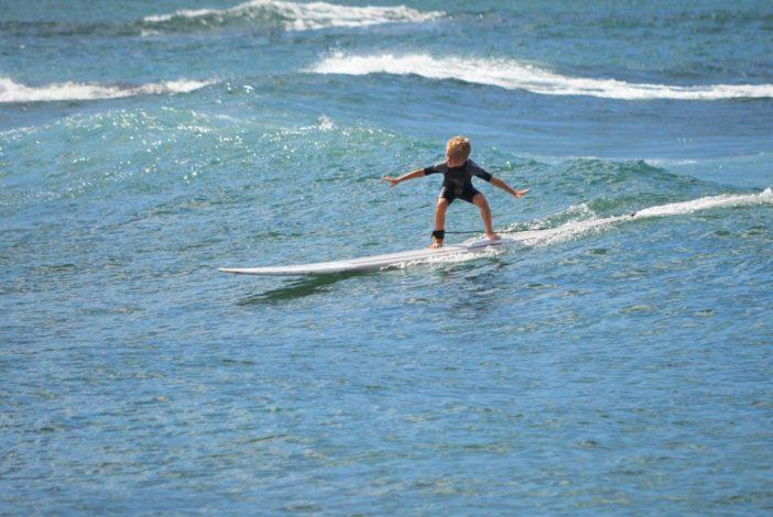 Schon kleine Kinder können surfen