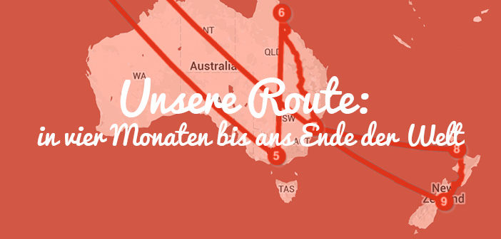 Weltreise mit Kind Route