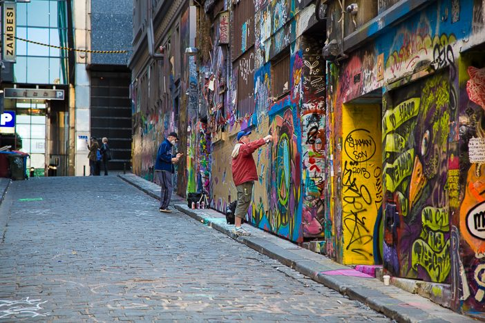 Melbournes Hosier Lane