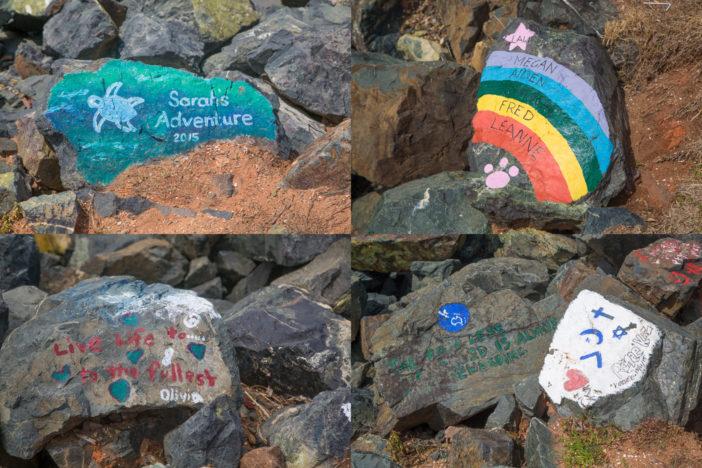 Einzelne Kunstwerke des Wellenbrechers