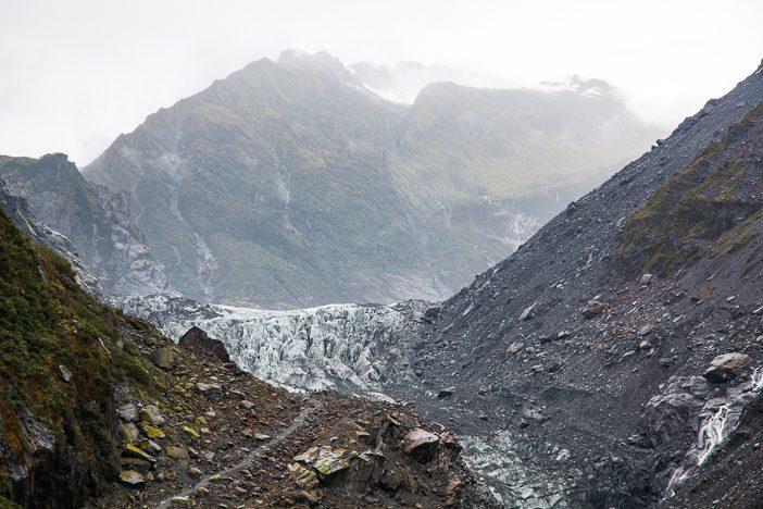 Fox Gletscher noch ein wenig näher