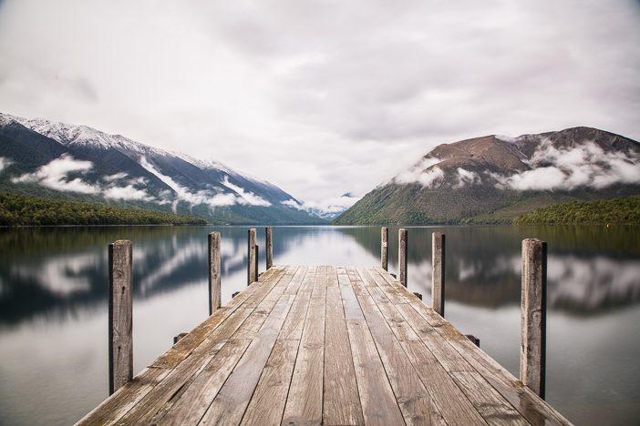 """Lake Rotoiti mit """"Kulisse"""""""