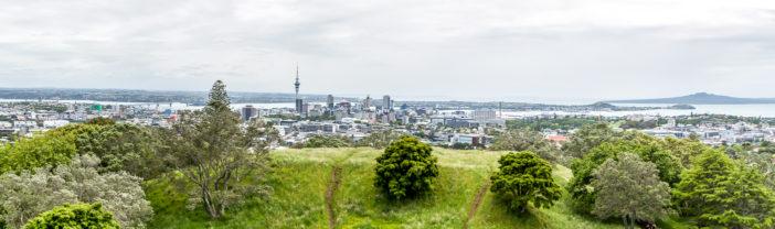 Auckland Skyline vom Mount Eden - zum Vergrößern klicken
