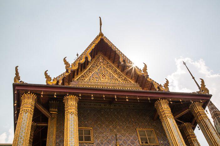 Tempel im Sonnenlicht