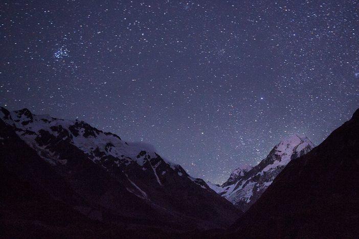 Mount Cook bei Nacht