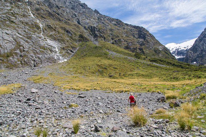 Wandern zum kleinen Gletscher