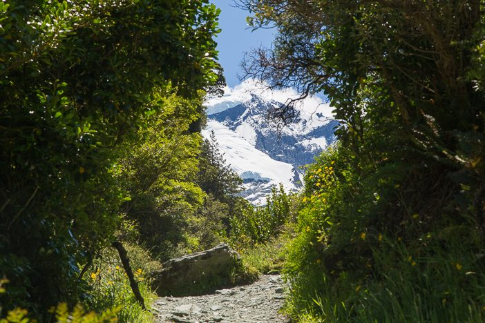 Blicke auf den Gletscher vom Weg nach oben
