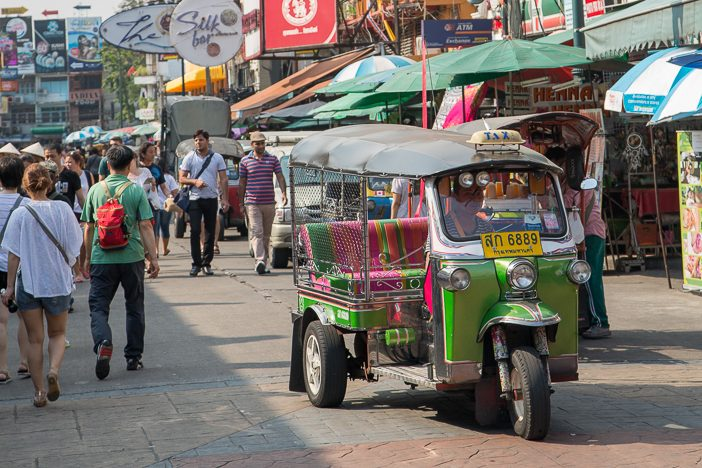 Sehr praktisches Transportmittel in Bagkok - und günstig noch dazu