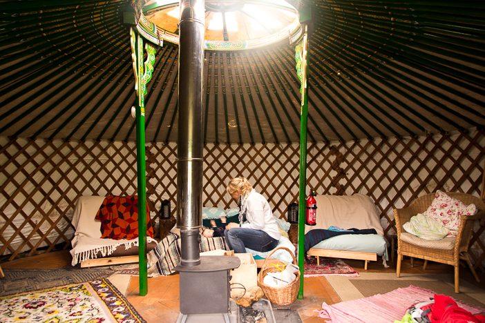 Das Innere des Zeltes
