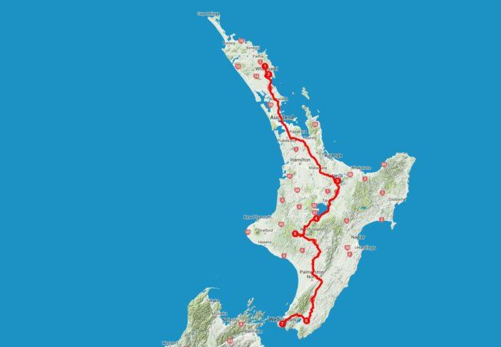 Die Übersicht über die vorgestellten Plätze auf der neuseeländischen Nordinsel