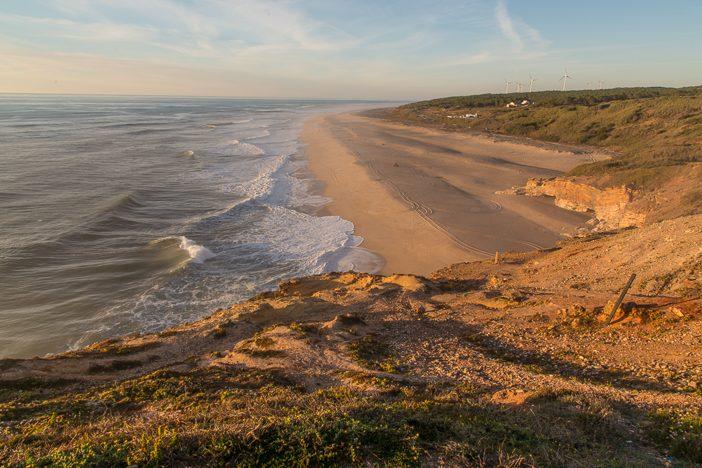 Praia do Norte bei nicht ganz so hohen Wellen